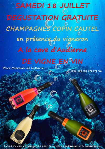 Dégustation vins nouvelle cave DE VIGNE EN VIN AUDIERNE