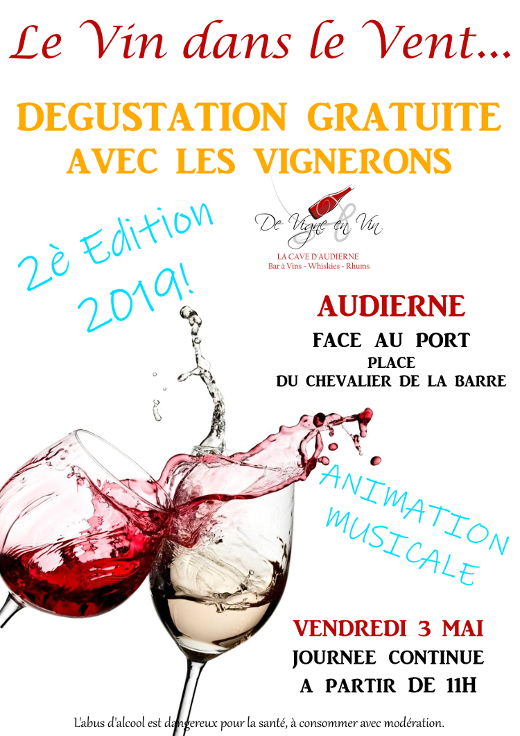 LE VIN DANS LE VENT 2nd Edition FREE TASTING WITH WINE GROWERS